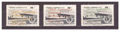 "panama 1963 kompletní série ""Central Amer. Lions Congress, 22nd   Ed."""