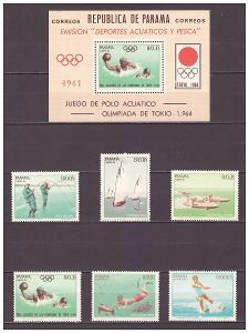 "Panama 1964 ""Aquatic Sports"""