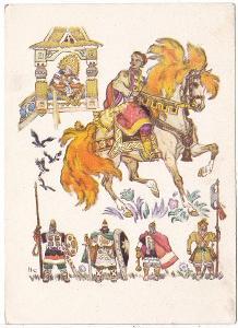 SSSR - Dětská kreslená pohlednice