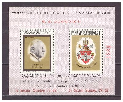 """Panama 1964 """"Pope John XXIII"""" Michel BL27"""