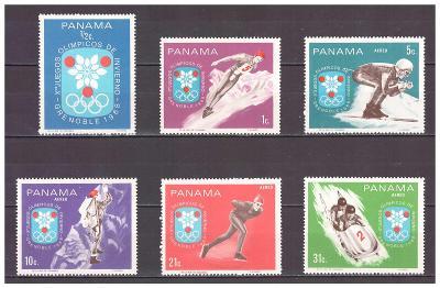 "Panama 1968 ""Winter Olympic Games 1968 - Grenoble"" Michel 1046-1051"