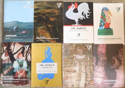 8ks aukčních katalogů Vltavín
