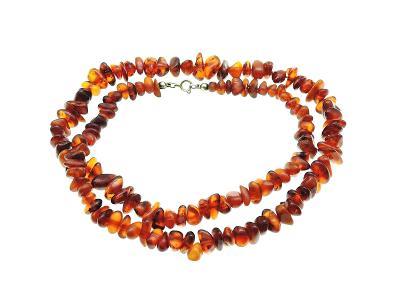 Jantarový gradující náhrdelník- 62cm