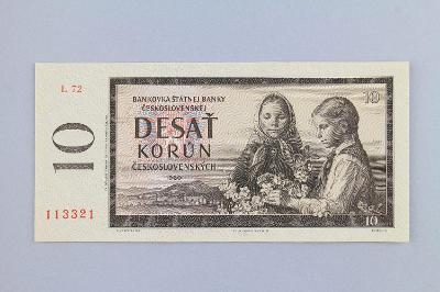 ČESKOSLOVENSKO // 10 Kčs 1960 L 72 / neperf. /69 UNC