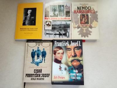 Pět knih František Josef I. , Karel I. , R-U , Habsburkové