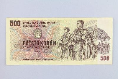ČESKOSLOVENSKO // 500 Kčs 1973 U 07 / neperf. /75 fajnová!