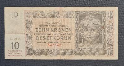 10 Koruna 1942, Nejvzácnější První Série A 01 !!!