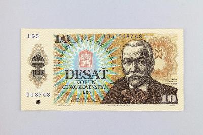 ČESKOSLOVENSKO // 10 Kčs 1986 J 65 / neperf. /77 UNC
