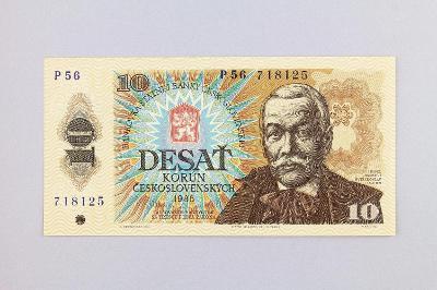 ČESKOSLOVENSKO // 10 Kčs 1986 P 56 / neperf. /78 UNC