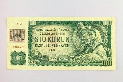 ČESKOSLOVENSKO // 100 Kčs 1961 X 68 s kolkem ČSFR / neperf. /82