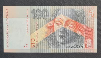 Vzácná 100 Sk 1996, Vzácná Série D, TOP Stav !!!