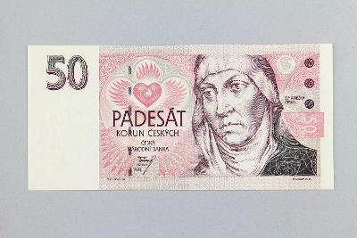 ČESKÁ REPUBLIKA // 50 Kč 1993 A 44 / neperf. /86 UNC