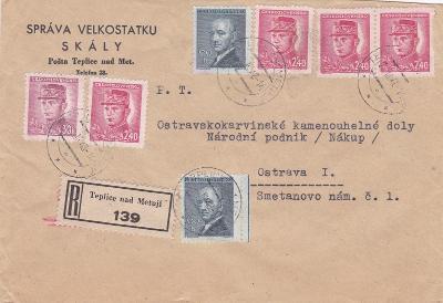 Firemní Skály, R- Teplice nad Metují 1948 (Broumov, Náchod)- Ostrava,