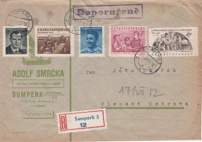 Firemní R- Šumperk 1952 - Slezská Ostrava, bez přích.