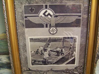 Vojáci,Ženisti - Hamburg -  Dobový Originál - válečné Německo !!!!