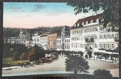 Cheb Mariánské Lázně Stefanstraße Hotel Klinger park koňský povoz