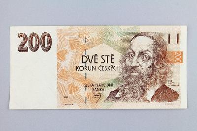 ČESKÁ REPUBLIKA // 200 Kč 1993 A 27 / neperf. /88 hezká!
