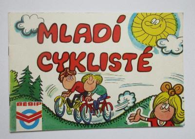 Retro staré omalovánky Besip Mladí cyklisté