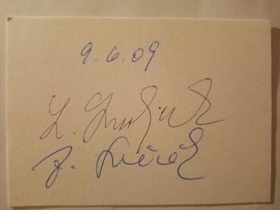 Autogramy ...  Ladislav SMOLJAK  a Zdeněk SVĚRÁK  .....