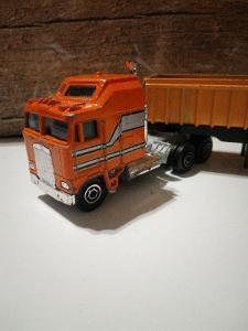 Větší Kovový Kamion Yatming + Návěs Na Sypký Materiál