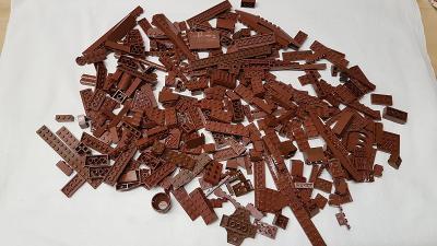 Lego díly brown a reddish brown 0,5 kg od Legomania