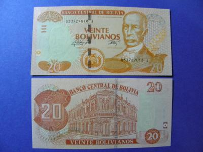 20 Bolivianos L.1986(2015) Bolivia - P244 - UNC - /H19/
