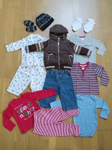NOVÉ oblečení, sada podzim/zima, NEXT / GEORGE vel. 80 (9-12m)