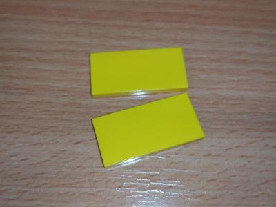 Lego díl 87079 - 2ks hladká žlutá