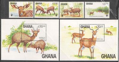 ** 015 GHANA série WWF bongo + 2x aršík 1984