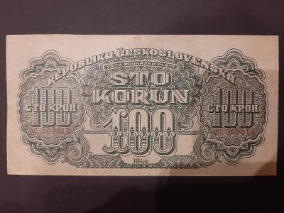 Vzacna 100 korun 1944 chybotisk TÁTO neperforovana krasny stav
