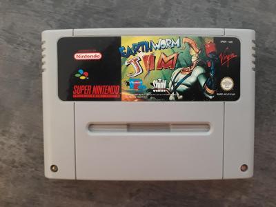 Super nintendo SNES  Earthworm Jim