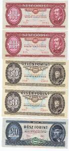 Maďarský forint kovolut - 100(1985), 50(1983), 20(1975)