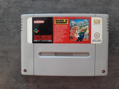 Super nintendo SNES  Mario is  Missing