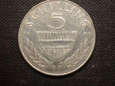 Rakousko  5 Schiling 1961, Ag