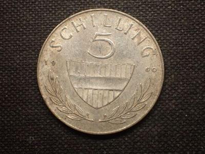 Rakousko 5 Schiling 1960, Ag