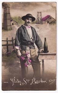 Pohlednice muž s kyticí, Wattrelos