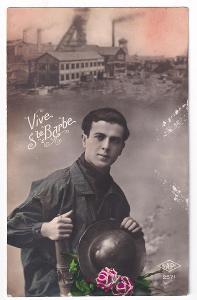 Pohlednice muž s kloboukem