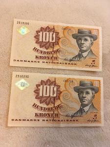 Dánsko 100 korun 2x (1997 - 2002)