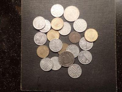 Rakousko, konvolut moderních mincí