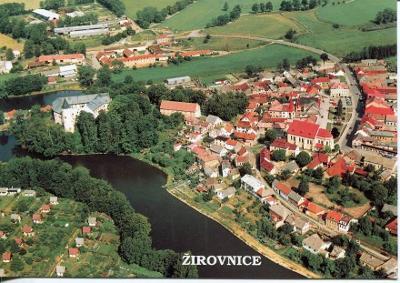 Žirovnice (Pelhřimov), zámek a město, letecký