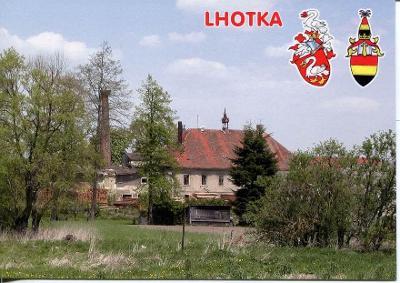 Lhotka (Tachov), zámek, erb