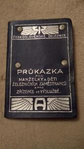 Průkazka ČSD 1926-1928 (VČETNĚ KUPÓNŮ)