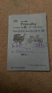 Zavazadlový lístek ČSD  1988