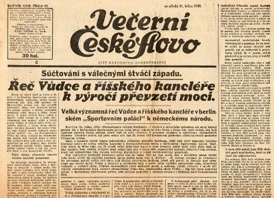 Noviny Večerní České slovo, XXII/25