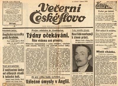 Noviny Večerní České slovo, XXII/31