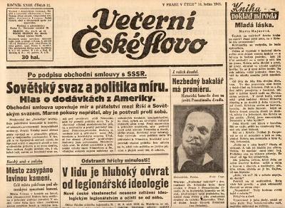 Noviny Večerní České slovo, XXIIII/11