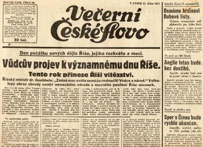 Noviny Večerní České slovo, XXIIII/26
