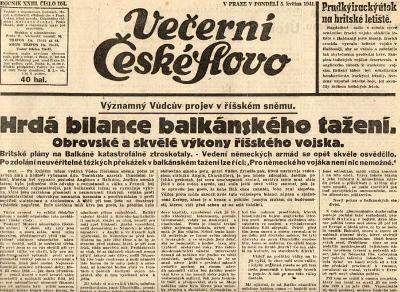 Noviny Večerní České slovo, XXIIII/104