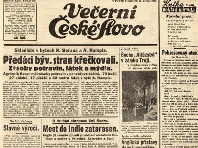 Noviny Večerní České slovo, XXIIII/109