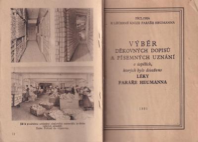 Kniha Léky faráře Heumanna, 1931